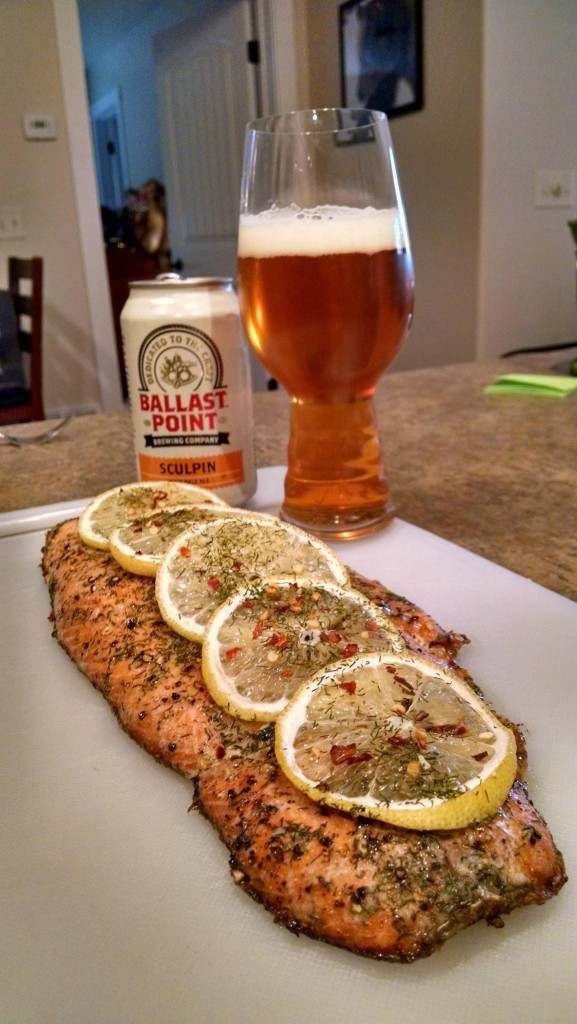 Sculpin and Alaskan Salmon for lunch