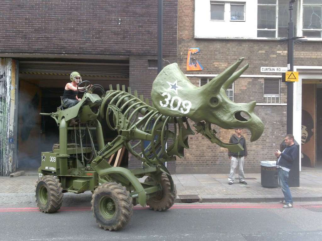 Triceratractor cool dinosaur mobile