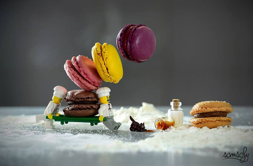 lego cooks dropping macaroons