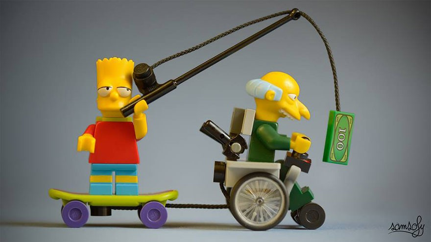 lego bart simpson with Mr. Burns
