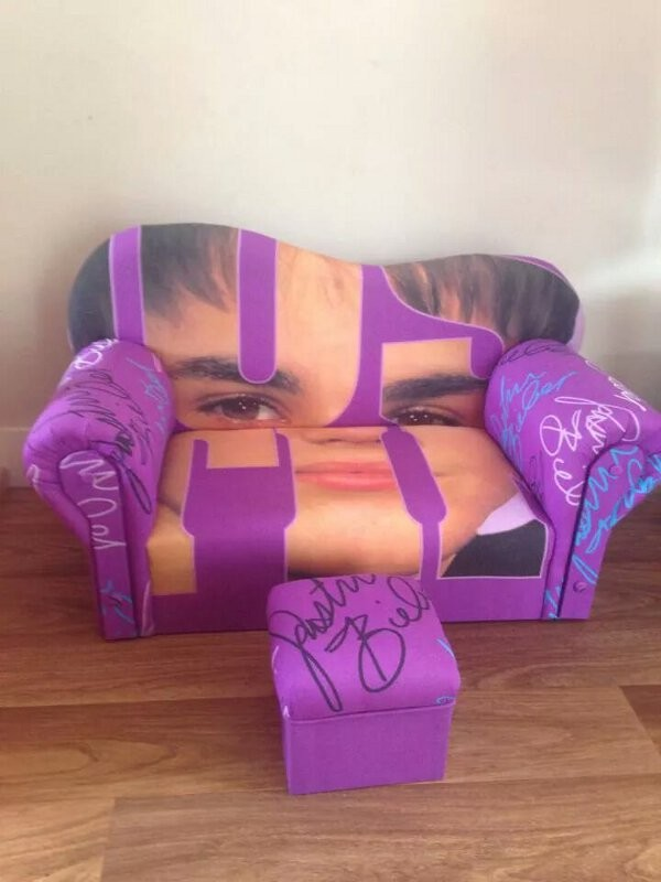 Justin Bieber couch