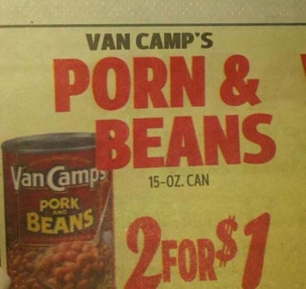 porn and beans advertisement