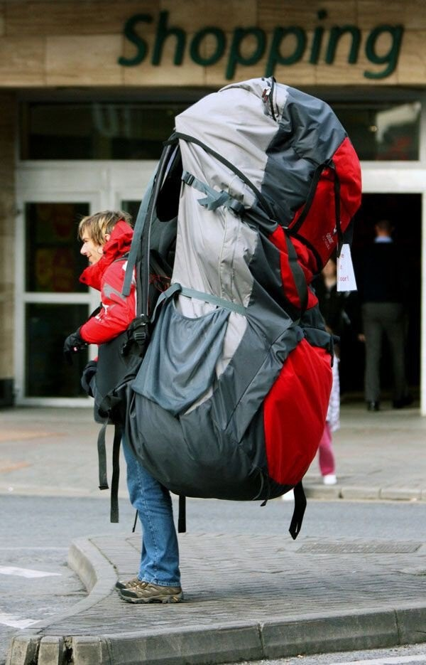 gigantic backpack
