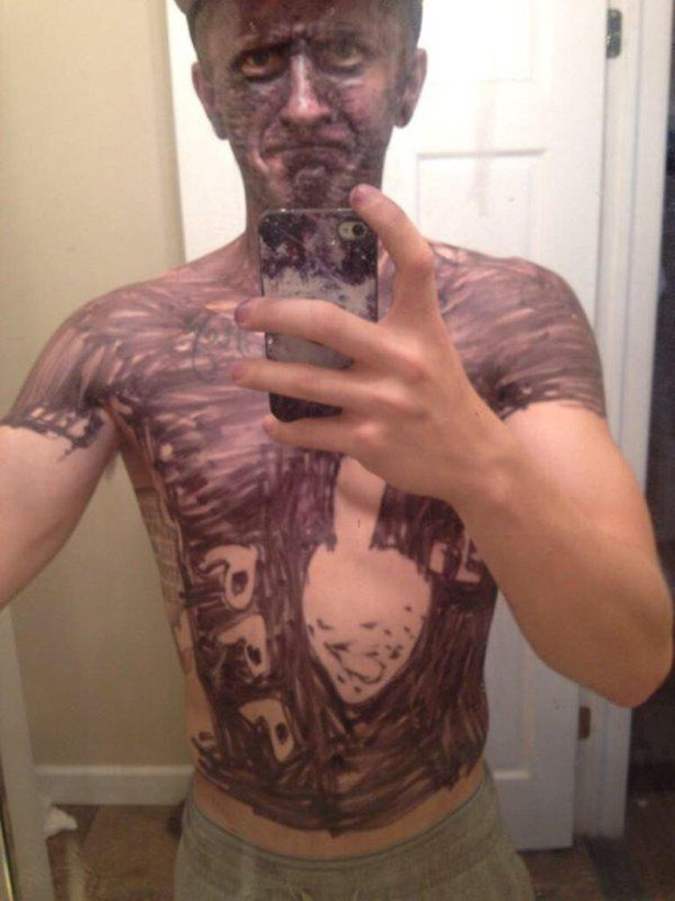 guy covered in magic marker