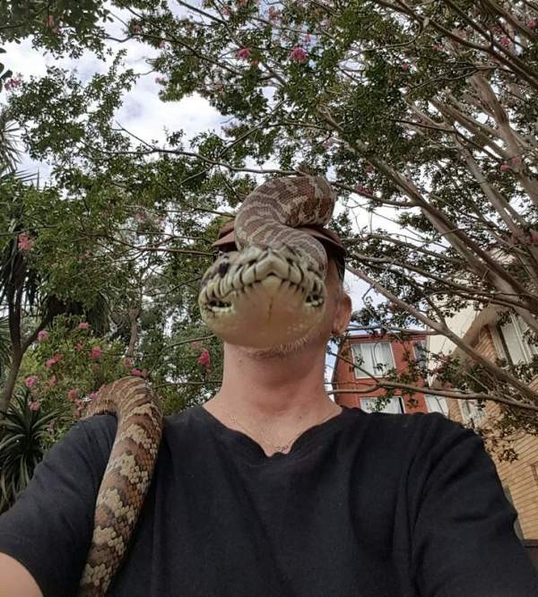selfie with a snake