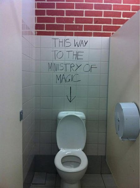 this way to the ministry of magic graffiti