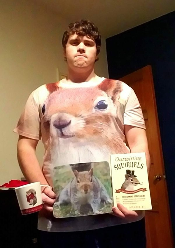 guy who loves squirrels